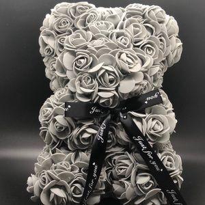 Gray Teddy Bear Rose Flower